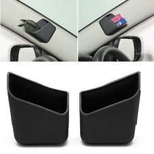 2X Universal Car Auto Accessories Glasses Organizer Storage Box Holder Black