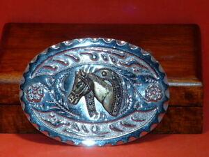 Pre-Owned-Silver-Horse-Shoe-Belt-Buckle