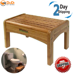Wooden Foot Stool Child Bed Step Wood Kitchen Small Non