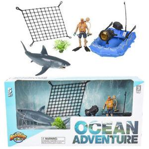 Great White Shark Adventure Set Animals Action Figure Toys Kids Gifts Ebay