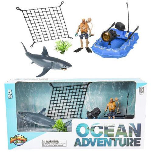 Great White Shark Adventure Set Animaux Figurine Jouets Enfants Cadeaux