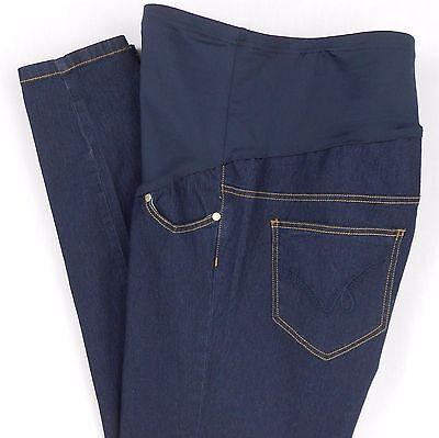 oh mamma Maternity Stretch Jeans Size 1X Dark Blue Soft Denim Narrow Leg Pants