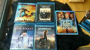 blu-ray-movies-lot-of-5-divergent-I-am-four-tombstone-ultraviolet-cowboys