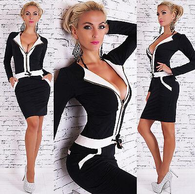 GIORGIA Kleid Freizeitkleid Businesskleid schwarz/weiß  Gr.  36/38, 38/40