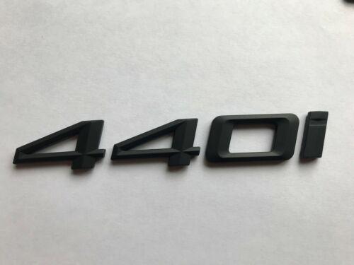 Noir Mat 440I Badge Arrière Coffre pour de Voiture BMW 4 Série Modèles