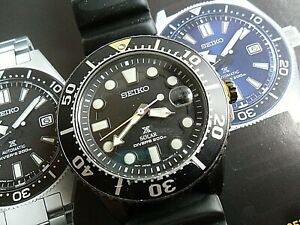 Clean-43-7-mm-S-S-Men-039-s-Seiko-Prospex-200M-Solar-Diver-039-s-Watch-V157-0BT0-Runs