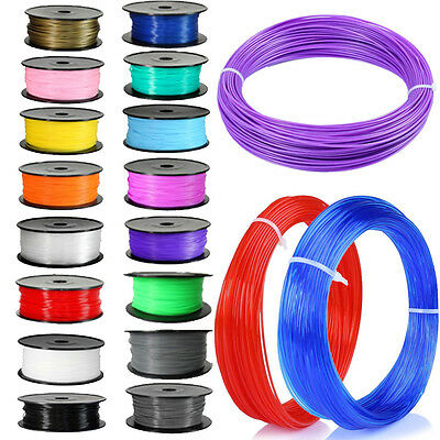 DIY 5M 3D Printer Filament 1.75mm 3mm ABS / PLA Pen MakerBot RepRap Gift Sales