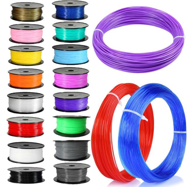 DIY 20M 3D Printer Filament 1.75mm 3mm ABS / PLA Pen  MakerBot RepRap Gift Sales