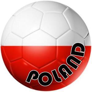 decal sticker worldcup car bumper flag team soccer ball foot football poland