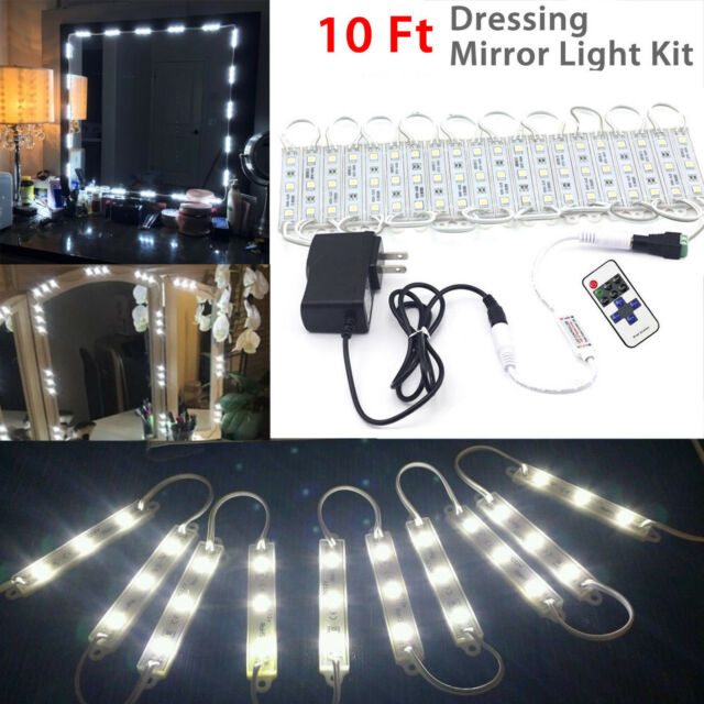 Diy lighting kit Fluorescent Mirror Light Kit Linkstyle 10ft Vanity Makeup Diy Led Kits Dressing Lamp For Ebay Mirror Light Kit Linkstyle 10ft Vanity Makeup Diy Led Kits Dressing
