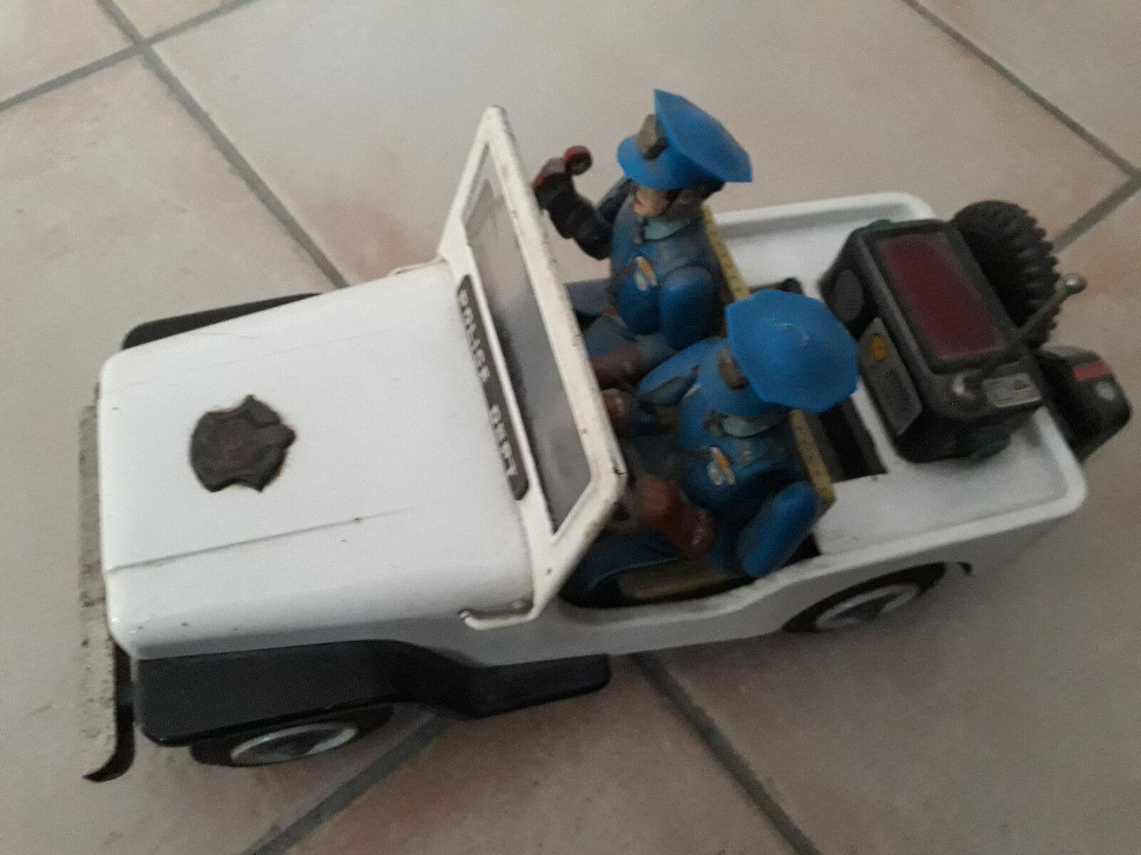 Police Patrol Jeep giocattolo anni '50 -'60