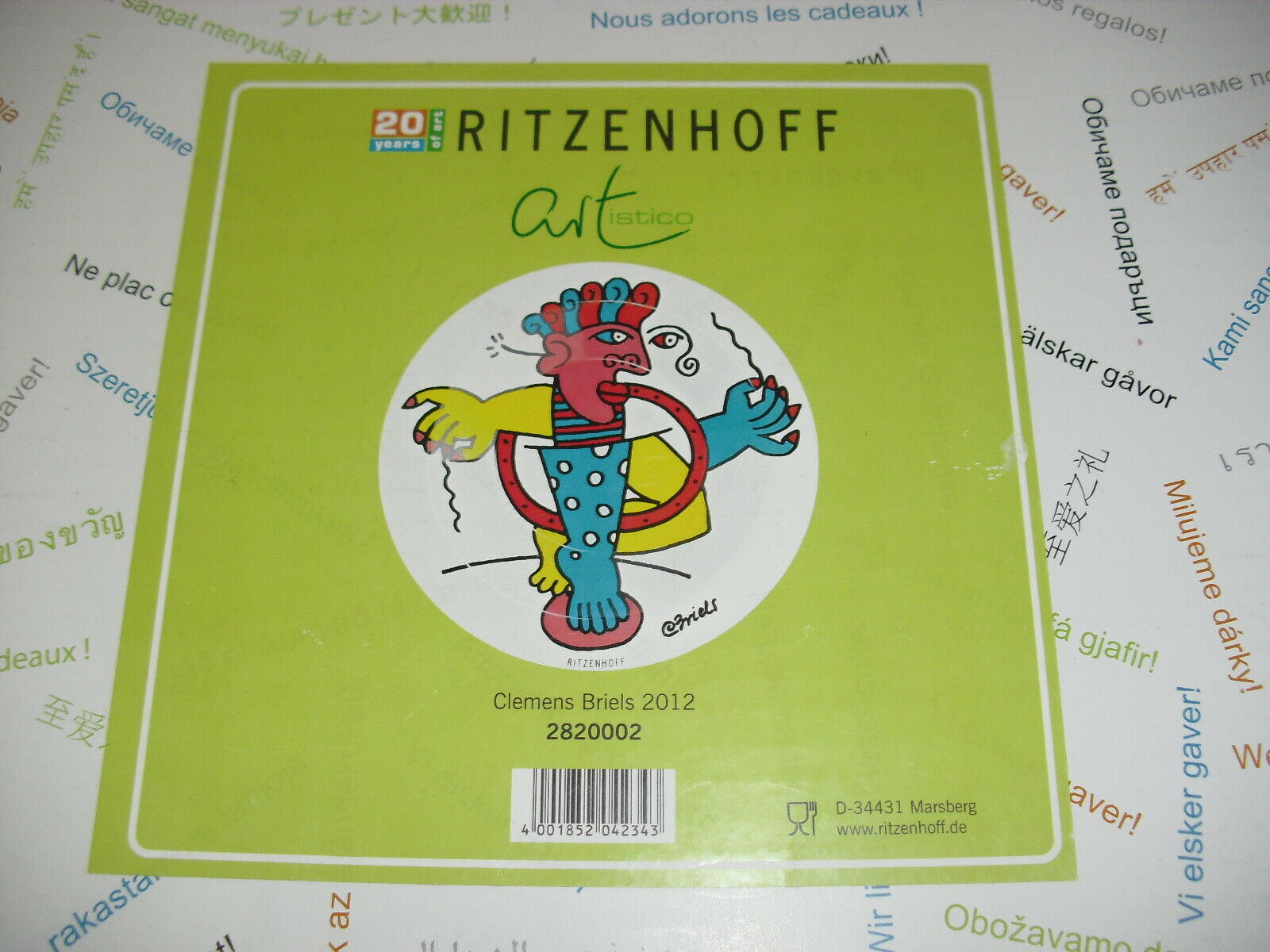 NEU, Ritzenhoff, artistico, artistico, artistico, Glas Schale, Clemens Briels 2012 , Teller, OVP | Deutschland Store  edf4ce