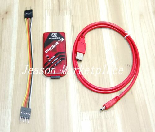Details of NEW PICkit3 Microchip Development Programmer w wire PIC USB cable