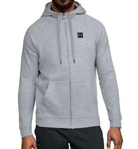 Small Black Under Armour Men/'s UA Threadborne Fleece Full Zip Hoodie New
