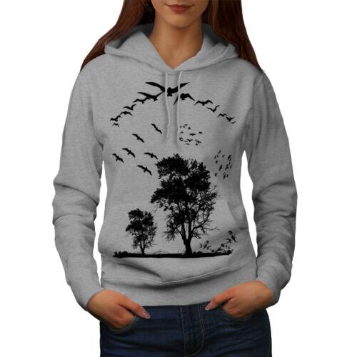 Wellcoda Oiseau La liberté Fly Femme Sweat à capuche nature Casual Sweat à capuche