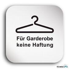 """Aluminium Schild """"Garderobe"""" 150 x 150 mm • Garderobenschild • Türschild  • Alu"""