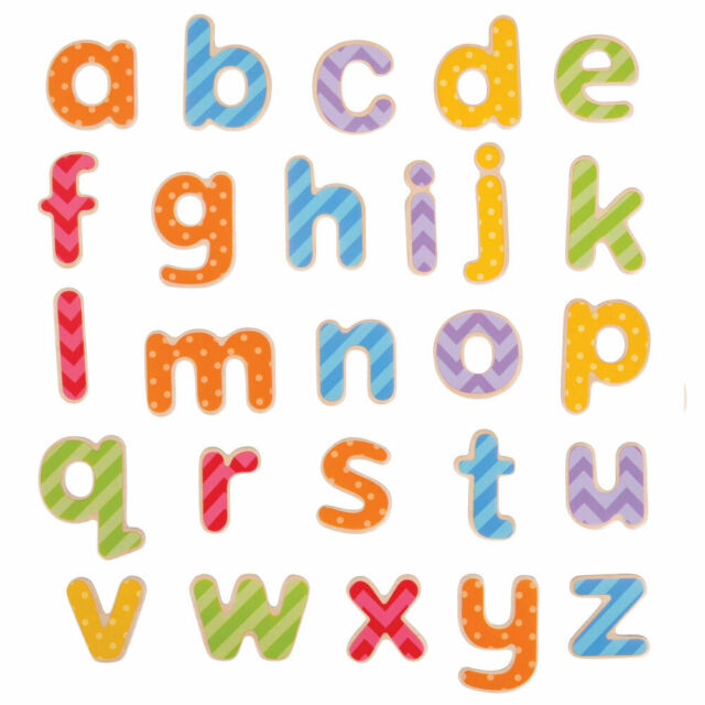 Bigjigs Toys Educational Wooden Magnetic Letters - Lowercase