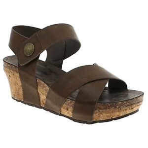 6d4f3b536c2 Women Pierre Dumas CHANTAL 4 22374134 Taupe Back Strap Wedge Sandal ...