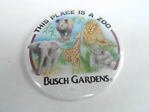 Vintage 3 Promo Pinback Button 98 071 Busch Gardens