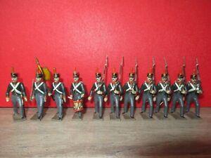 Cbg Mignot Anciens = 11 Soldats D Infanterie Russe 1° Empire - Tres Belle Serie