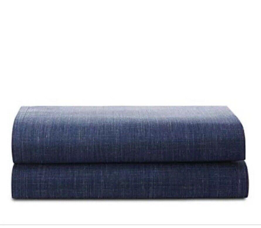 Ralph Lauren Artisan Loft Laight QUEEN Fitted Sheet Dark blu