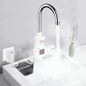 3000W Elektrisch Wasserhahn Sofort Heizung Durchlauferhitzer Armatur Spültis