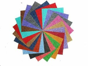 10 10 Inch Kaleidoscope Quilting Fabric Squares //Layer Cake By Benarte