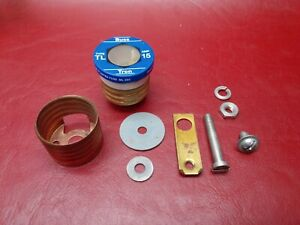 FPE Federal Pacific Electric Edison Base Fuse Socket Replacement Parts Vintage
