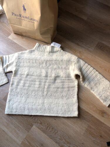White Lauren Ralph And Wool Oversized 8 Size Sweater Rrp By £299 Uk Small Silk CtqSdI