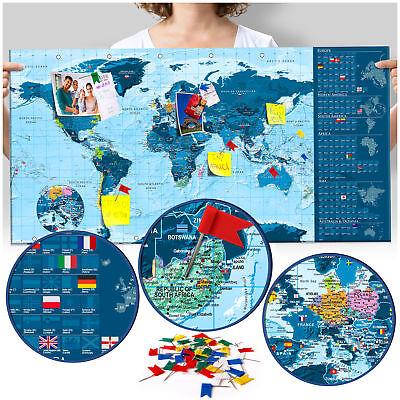 Rubbelkarte Pinnwand Zum Rubbeln Rubbel Weltkarte Scratch Off Blau