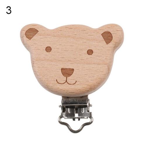 Am /_ Tier Holz Baby Schnuller Clip Kette Spielzeug DIY Molar Beißring Zubehör