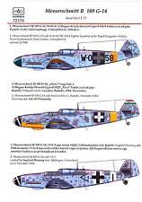 Hungarian Aero Decals 1/72 MESSERSCHMITT Bf-109G-14 Fighter