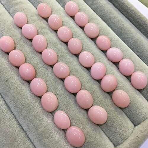 Details about  /Wholesale Lot 5x7mm Natural Pink Opal Oval Cabochon Loose Calibrated Gemstone