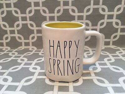 "Rae Dunn By Magenta /"" HAPPY SPRING /"" Mug New!!"