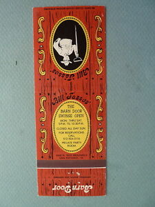 Vintage Matchbook Cover BILL JASS0S BARN DOOR Restaurant ...