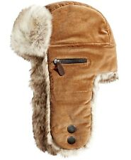 875610b2b Sherpa Lined Woolrich Dakota Trapper Dogs Hat Brown Corduroy ...