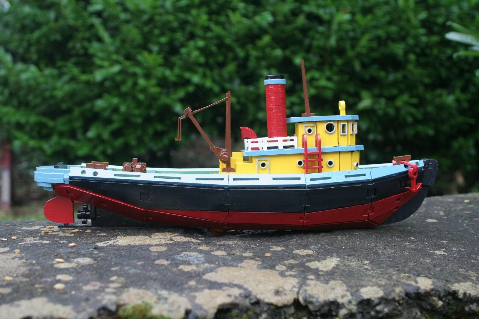 Laser cut wood wooden Model Tug Boat 3d puzzle   Kit
