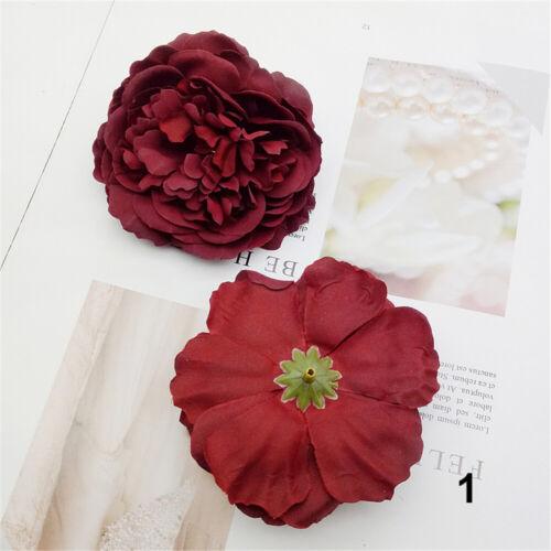 Women Rose Flower Bridal Hair Clip Hairpin Brooch Wedding Bridesmaid Headwear