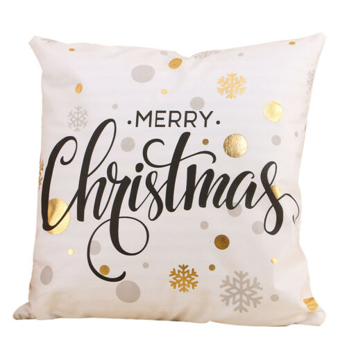 New Christmas Sheets Bronzing Decor Pillowcase For Sofa Seat Cushion Cover Home