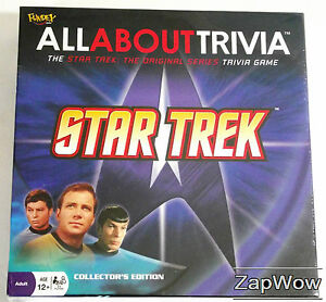 STAR-TREK-TOS-2008-ALL-ABOUT-TRIVIA-GAME-Fundex-New-Complete-Quiz-Kirk-Spock