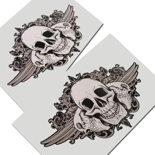 Totenkopf Grafik Aufkleber X 2 Teile Stil #001 Gothic Biker Death