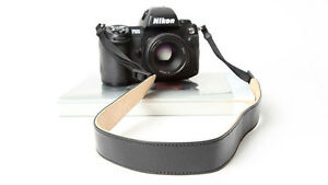 Black-amp-Cream-Cam-in-Leather-DSLR-Camera-Strap-CAM2290-UK-stock