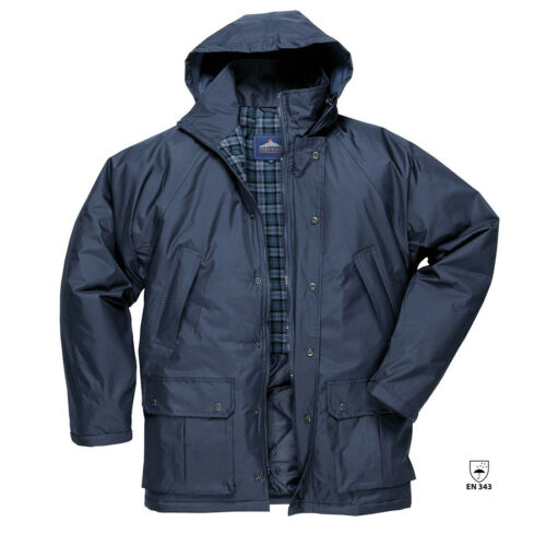 3XL S521 Portwest Dundee Lined Jacket Coat Waterproof Outdoors Work Workwear S