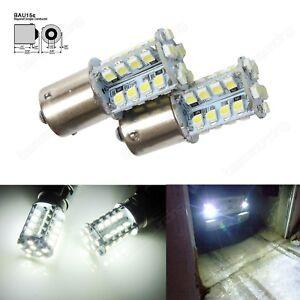 2x-PY21W-BAU15s-40-LED-Ampoule-Blanc-Clignotant-Feux-Arriere-Voiture-Lampe-moto