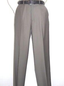 Mens MANTONI Pleated Dress Pants 100/% Wool Super 140/'s Classic Fit  40901 Taupe