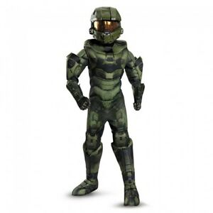 Details About Disguise Halo Master Chief Prestige Game Child Boys Halloween Costume 89980