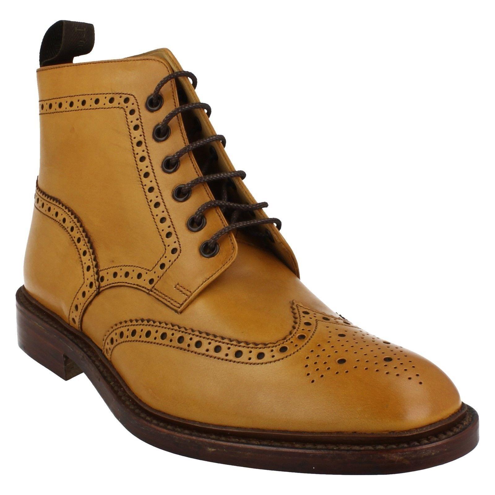 Oferta Hombre Loake Cuero Tostado Cordones Elegante Formal Zapato Oxford Botines