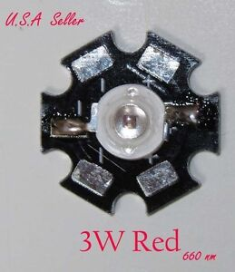 3W-x-6-PCs-High-Power-Red-660nm-LED-Specialist-for-plant-DIY-item