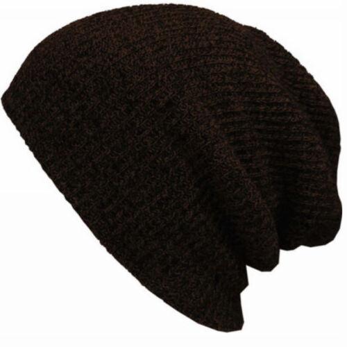 HOT Unisexe Hiver chaud tricot Stretch Baggy Hat Punk Cap Fit ski tricot chapeau MAR