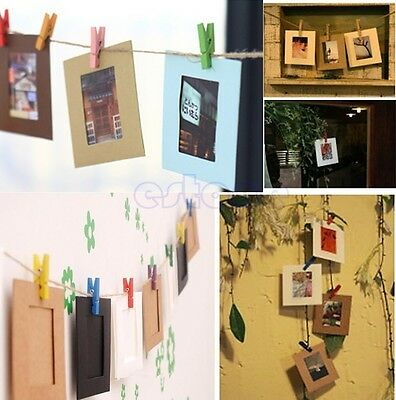 10Pcs 3inch DIY Paper Photo Flim Wall Picture Hang Album Stand Kraft Frame Clips